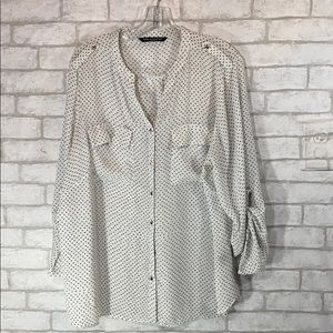 Zac and Rachel sheer blouse size 2X